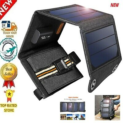 2019 SunPower 5V/1A/7W Portable Solar Cell Panel Phone Laptop Charger USB Output
