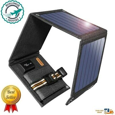 SunPower Portable Solar Cells Panel Charger 14W 5V 2.1A USB Output Phones Laptop