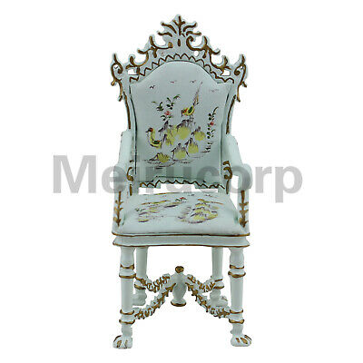 Dollhouse Furniture 1/12 HandPainted Landscape Painting Classical Style Armchair