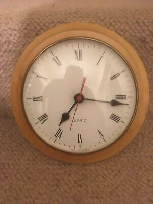 Junghans Quarts Wooden Clock W738 Made In Germany