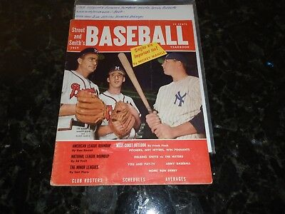 1959 Street and Smith's Baseball Pictorial Yearbook-Mantle, Spahn, Burdette