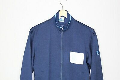 Champion Vintage Retro 90's Navy Blue Track Jacket - M (YOUTH)