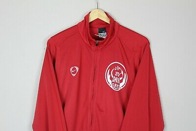 Nike Track Jacket Vintage Retro Red German Football Track Jacket - S
