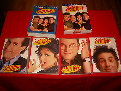 MINT Condition! First & Second Season 1 & 2 One Two Seinfeld 2004 DVD 4-DISC SET