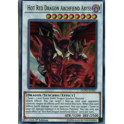 Yugioh Hot Red Dragon Archfiend Abyss Ultra DUPO 1st Ed Mint
