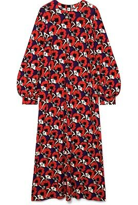 ccb507cb MARNI Red Floral Print Long Sleeved Maxi Dress. Beautiful! IT 44/UK 12