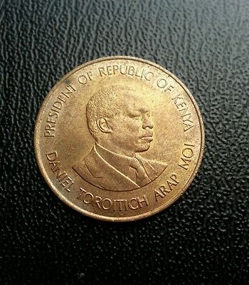 Kenya 1984 5 cents coin. World coin collectable