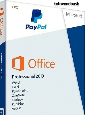 Microsoft Office Professional Plus 2013 Licencia Original ✔