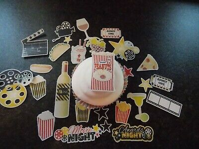26 Precut Edible Movie Night themed wafer/rice paper cake/cupcake toppers