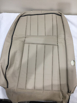 Range Rover P38 Cream Leather Drivers Front Upper Seat Back Section Osf 94-02