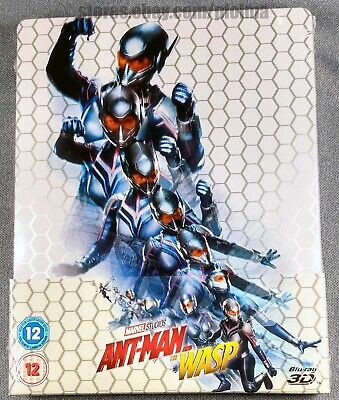 ANT-MAN AND THE WASP Brand New 3D (and 2D) BLU-RAY STEELBOOK 2018 Marvel Movie