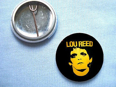 Lou Reed 25mm (1 inch) Badge Velvet Underground David Bowie Iggy Pop