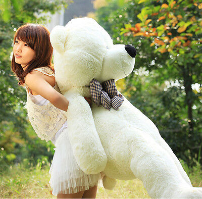 Giant Beige Plush Teddy Bear 31.4'' Big Cute Romantic Toy Soft Cotton Kid Pillow