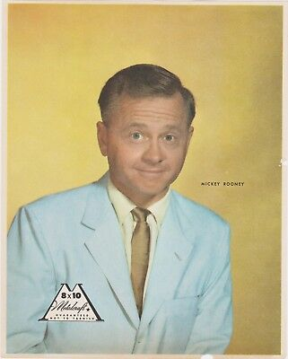RARE VINTAGE 1950s MICKEY ROONEY PROMO PHOTO USED TO ADVERTISE METALCRAFT FRAMES