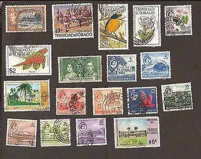 Trinidad & Tobago. Small old selection of stamps. As scan.