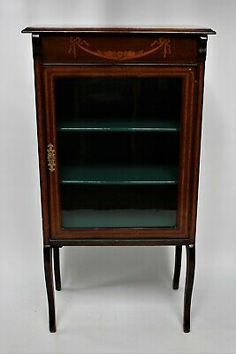 Pretty Edwardian 1900s Inlaid Mahogany Music Cabinet