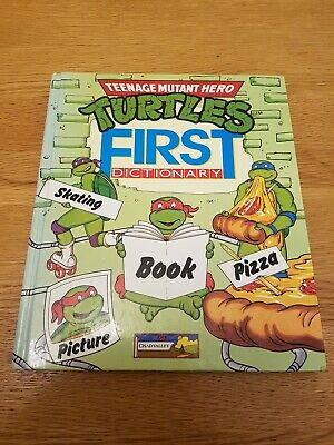 Teenage Mutant Heroes Turtles First Dictionary Book 1991 Rare Vintage