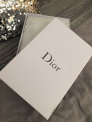 "Christian Dior Authentic Empty Gift Storage Shoe Box Size 12"" x 7.5"" x 4"" NEW"