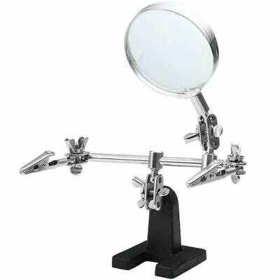 Helping Hand Welding Magnifying Glass Soldering Iron Stand Holder Station
