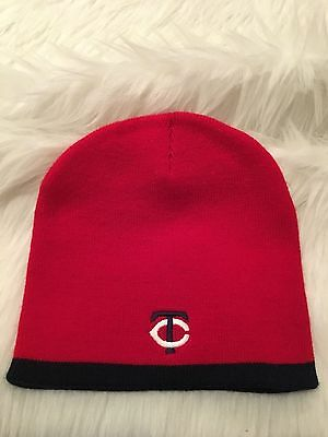 huge discount 6d2c0 393bb Minnesota Twins Adult One Size Knit Stocking Hat Beanie Cap Red Blue Witner