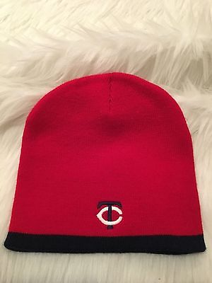 389453322b343a Minnesota Twins Adult One Size Knit Stocking Hat Beanie Cap Red Blue Witner