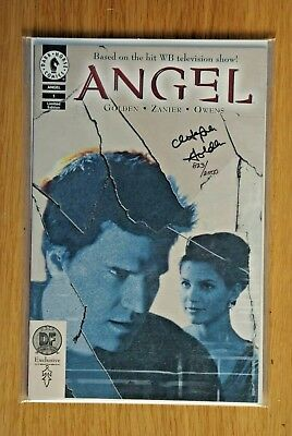 ANGEL #1 DF DYNAMIC EXCLUSIVE RED FOIL PHOTO COVER SIGNED by CHRISTOPHER GOLDEN