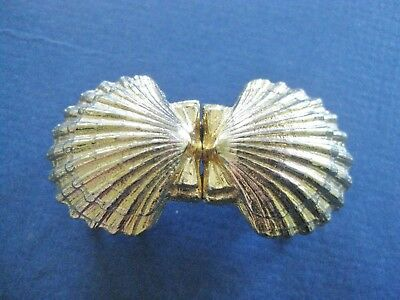 Vintage Belt Buckle Gold Seashell Design Mimi Di N 1985 EUC