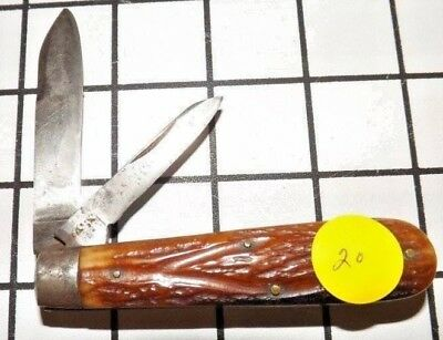 Rare Case Bros Little Valley NY 2 Blade Stag Horn Handle Pocket Knife 1800s 8111