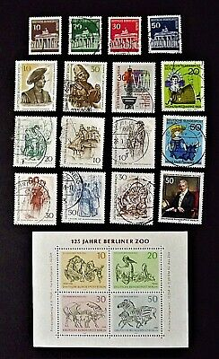 Germany / West Berlin.   1966-1969.  Collection of 17 stamps, all used.