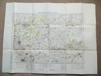 "ORDNANCE SURVEY 1"" MAP: KETTERING & HUNTINGDON Sheet 84 (War Office, 1941)"