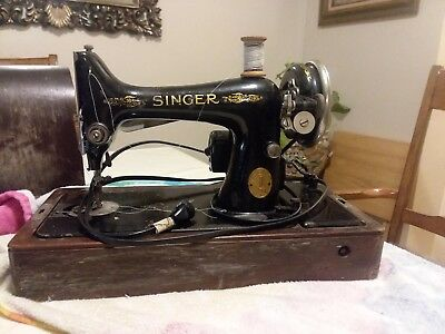 The Singer Manufacturing and CO Sewing Machine with case