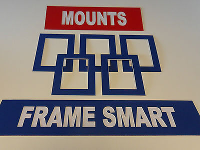 Frame Smart Pack of 4 Blue picture/photo mounts size A3 for A4