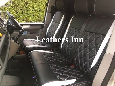 VOLKSWAGEN VW T5 2003-2015 ECO LEATHER ALICANTE SEAT COVERS MADE TO MEASURE LHD