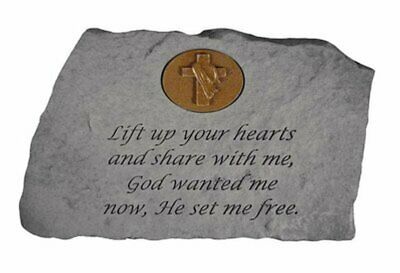 Lift Up Your Hearts...W/Symbol Memorial Garden Stone