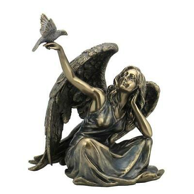 Angel Sitting With Dove On Right Hand  - Religious Sculpture