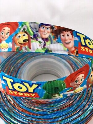 Yard Disney Toy Story Buzz Lightyear Woody Childrens Grosgrain Ribbon Character