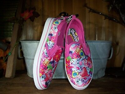 Shopkins Girls Casual Shoes Size 3 Color Pink Kids Cartoon Slippers Shoes New