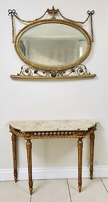 LOVELY 19th CENTURY GILTWOOD & MARBLE CONSOLE TABLE C1850