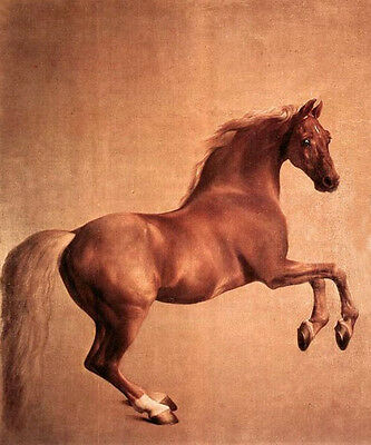 Beautiful art huge Oil painting Stubbs, George - Red horse In A Landscape