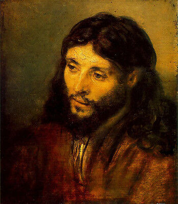 Wonderful art Oil painting Rembrandt - Young Jew as Christ