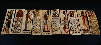 SALE Lot Of 50 Ancient Egyptian Authentic Large Hand Made Papyrus Book Marks