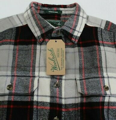 ed29854c4 MEN'S WOOLRICH OXBOW Bend Flannel Shirt $75 NWT 100% Cotton Sizes L ...