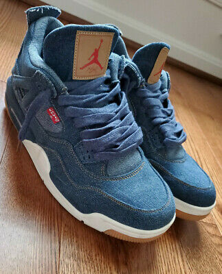 cheap for discount f65f2 ef26a Nike Air Jordan 4 Retro Levi s Denim Blue Jeans Size 12 Used NRG A02571 401  RARE