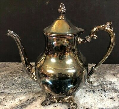 """Vintage Silver Plated FB Rogers """"Lady Margaret"""" Large Footed 10"""" Tea/Coffee Pot"""