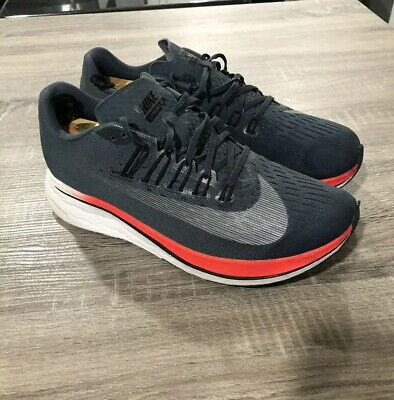 6baa96cde02d6 Nike Zoom Fly Blue Fox Black Bright Crimson Shoes 880848-400 Men s Size 10.5
