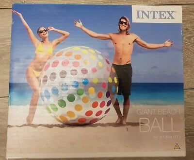 """Inflatable giant beach ball 72"""" by Intex #58097 (new model 2017) 1.83m new"""