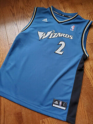 check out 6cec6 588b7 AUTHENTIC WASHINGTON WIZARDS #2 John Wall Adidas Red Jersey ...