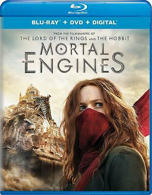 Mortal Engines Blu-ray DVD Digital Hugo Weaving Blu-ray A/1 PG-13 2 discs NEW