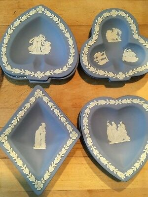 Wedgwood Jasperware Vintage Pale Blue 4 piece Bridge Set MINT! 4 sets available!