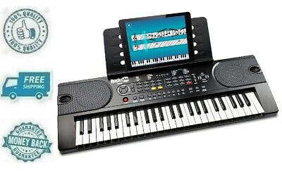 New 49 Key Portable Electric Keyboard Piano Electronic Music System Sheet Stand